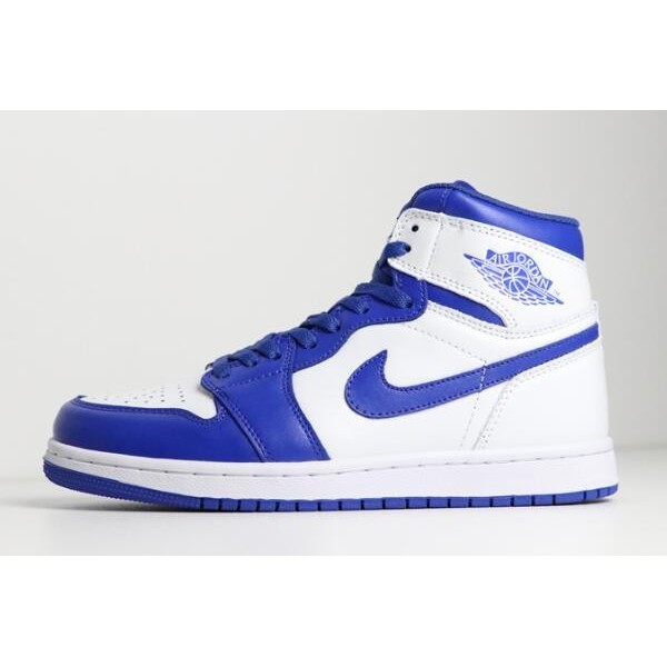 Men Air Jordan 1 Mid Hyper Royal White Hyper Royal 554724-114
