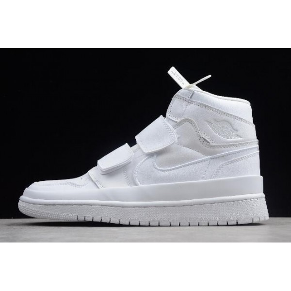 Men/Women Air Jordan 1 Retro High Double Strap White AQ7924-100