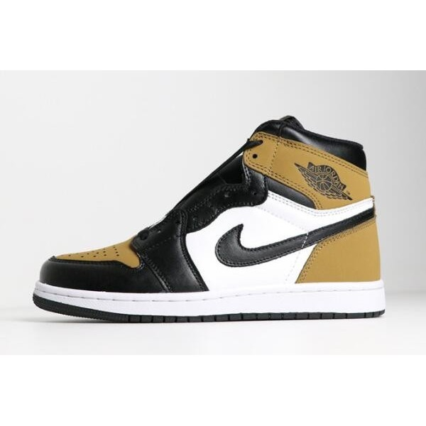Men Air Jordan 1 Retro High OG Rookie of the Year Gold Harvest Black