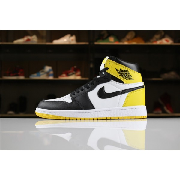Men/Women Air Jordan 1 Retro High OG Yellow Ochre Summit White Black-Yellow