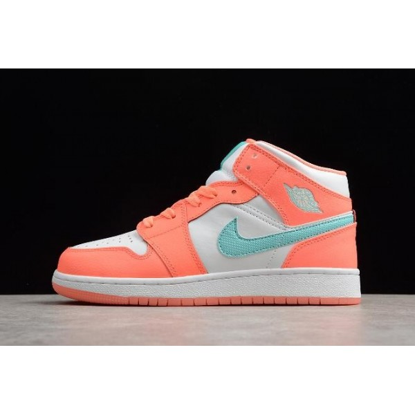 Women Air Jordan 1 Mid Crimson Pulse Shoes