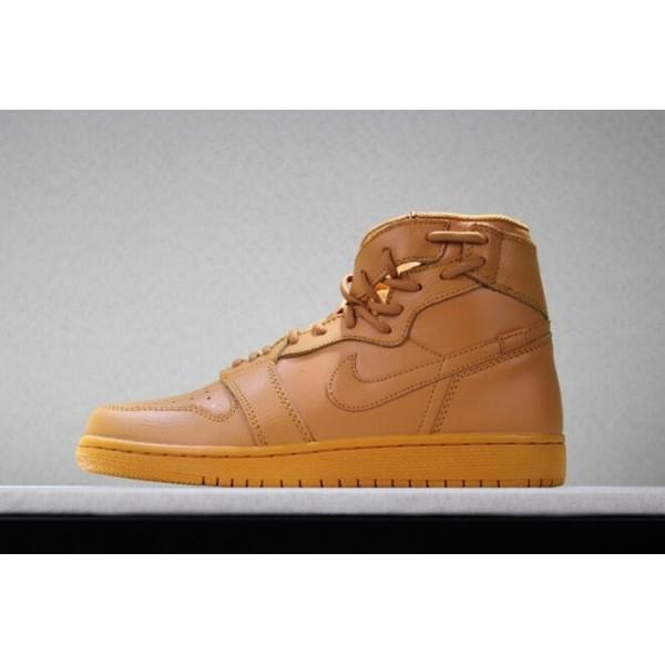 Men Latest Air Jordan 1 Rebel Wheat Flax Sneakers