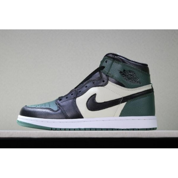 Men/Women Air Jordan 1 Retro High OG Pine Green Sail-Black
