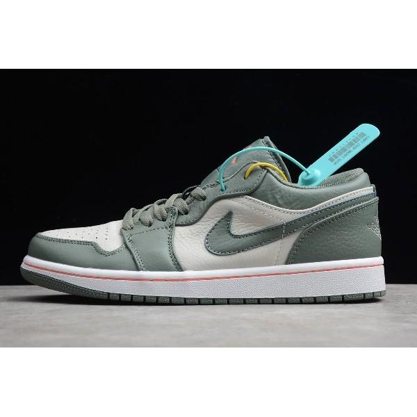Men Air Jordan 1 Low Military Green 553558-121