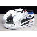 Men/Women Air Jordan 1 High OG VNT AGE White Black-University Blue
