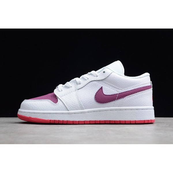 Women Air Jordan 1 Low Valentine Day White True Berry-Rush Pink