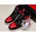 Men Travis Scott x Air Jordan 1 High OG Bred Toe
