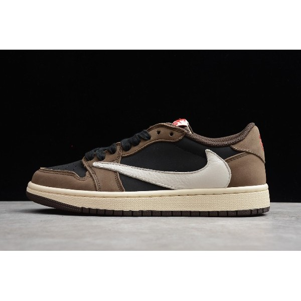 Men/Women Travis Scott x Air Jordan 1 Low OG SP Dark Mocha
