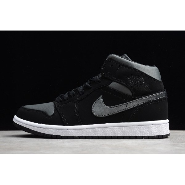 Men/Women Air Jordan 1 Mid SE Nylon Black Grey 852542-012