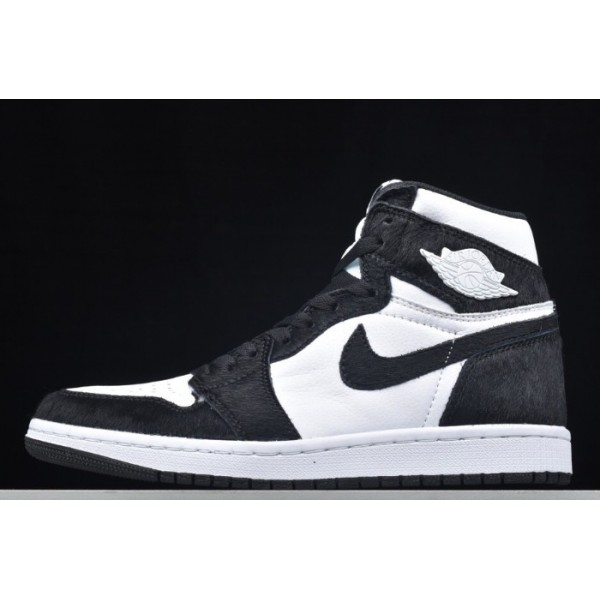 Men/Women Air Jordan 1 Black White Panda Release CD0461-007