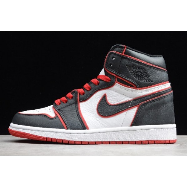 Men Air Jordan 1 High OG Meant To Fly Black Gym Red-White