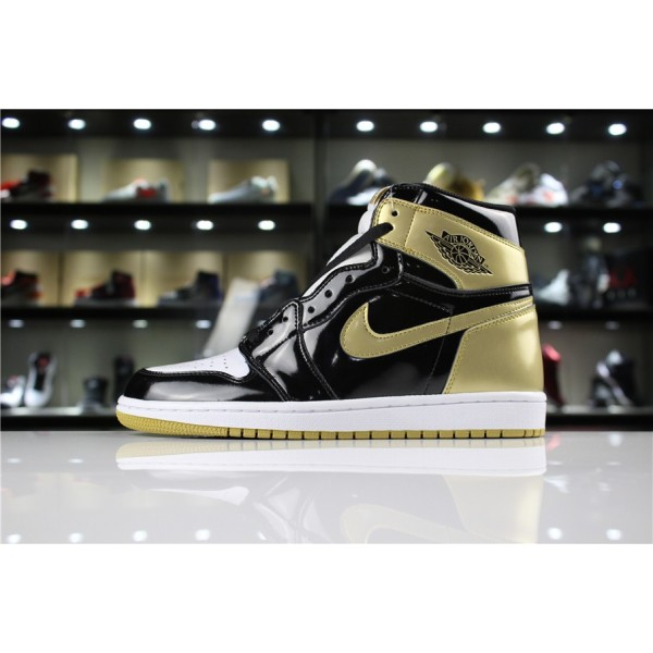 Men/Women Air Jordan 1 High OG NRG Gold Top 3 Black Metallic Gold