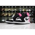 Men/Women Air Jordan 1 High OG Valentine Day Black Hyper Pink-White