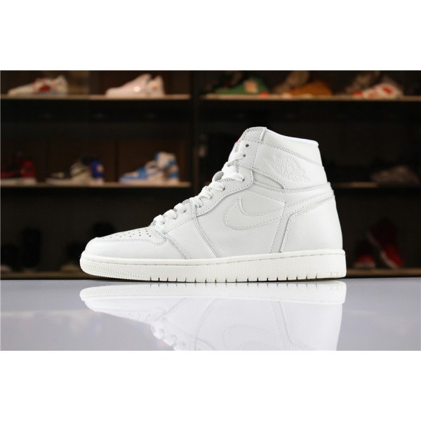 Men Air Jordan 1 High Premium Pure Platinum AA3993-030