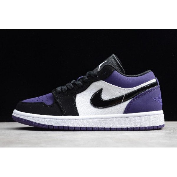Men/Women Air Jordan 1 Low Court Purple 553558-125