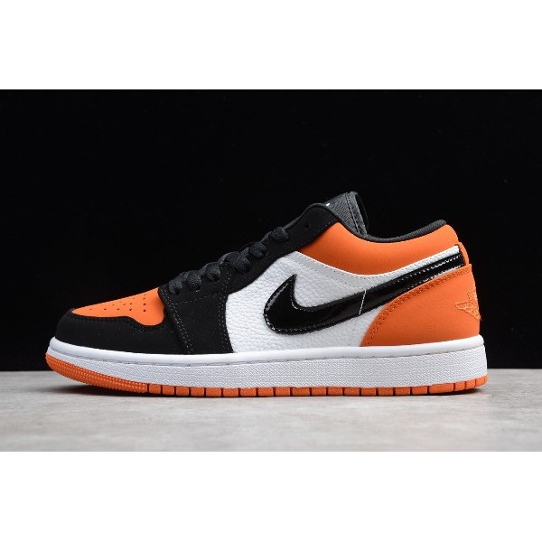 Men/Women Air Jordan 1 Low Flyknit Shattered Backboard Black White