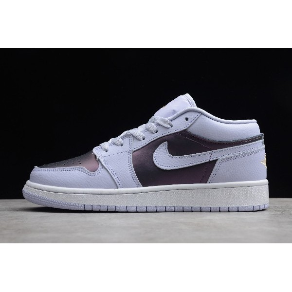 Women Air Jordan 1 Low Oxygen Purple White For