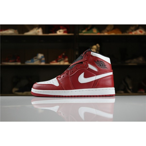 Men/Women Air Jordan 1 Mid Chicago Gym Red White