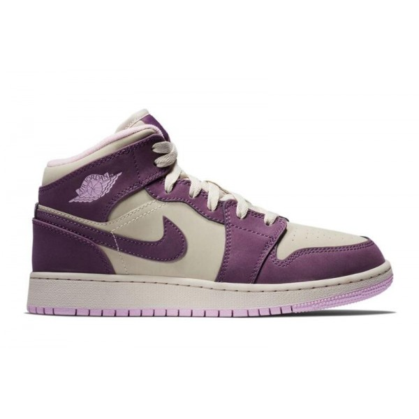 Women Air Jordan 1 Mid Pro Purple Desert Sand