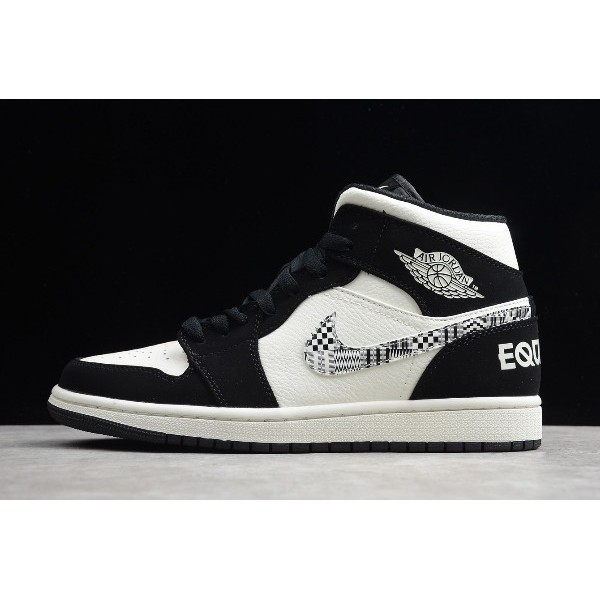 Men Air Jordan 1 Mid SE Equality Black-Sail-Wolf Grey