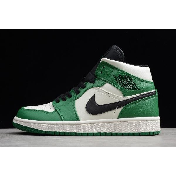 Men/Women Air Jordan 1 Mid SE Pine Green Sail-Black