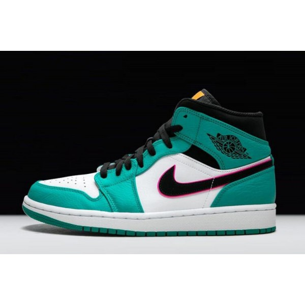 Men/Women Air Jordan 1 Mid SE South Beach Turbo Green
