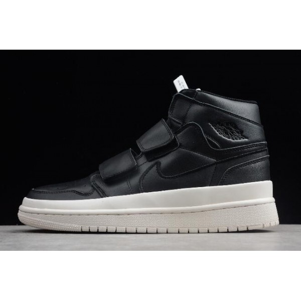 Men/Women Air Jordan 1 Retro High Double Strap Black Outlet