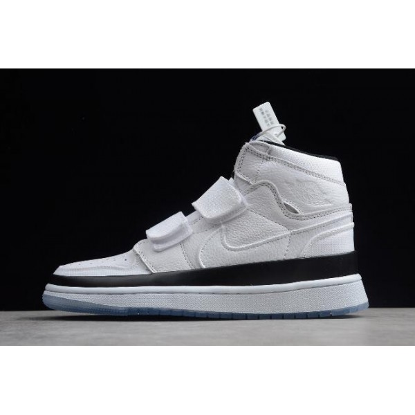 Men/Women Air Jordan 1 Retro High Double Strap Concord White Black