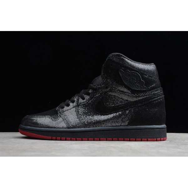 Men Air Jordan 1 Retro High OG Black Gym Red Basketball Shoes