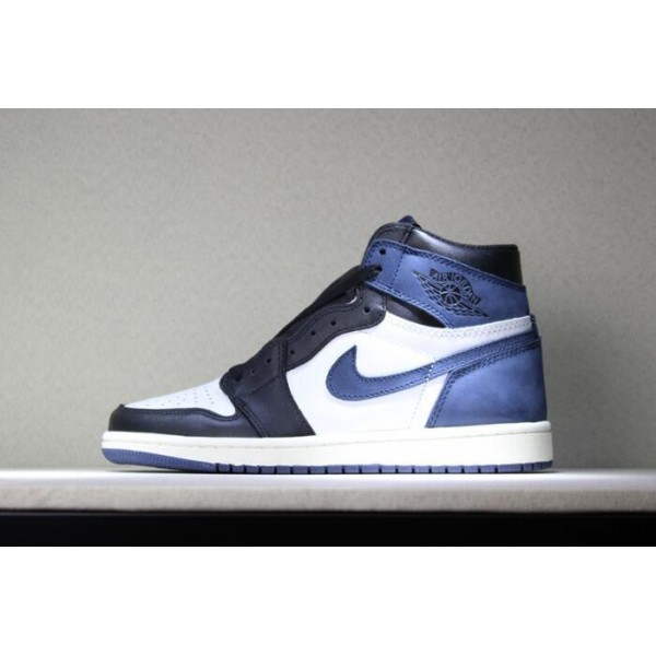 Men Air Jordan 1 Retro High OG Blue Moon Basketball Shoes