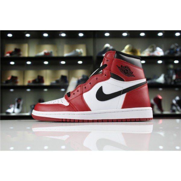 Men Air Jordan 1 Retro High OG Chicago White Black-Varsity Red