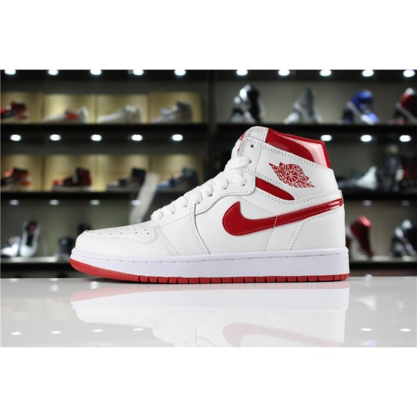 Men/Women Air Jordan 1 Retro High OG Metallic Red White Varsity Red