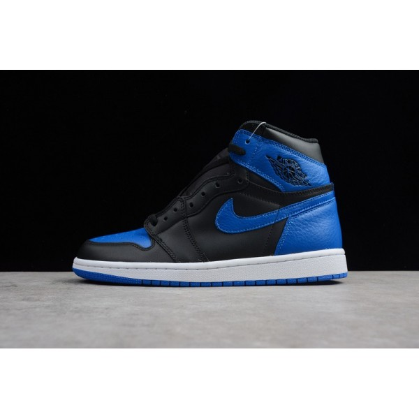 Men Air Jordan 1 Retro High OG Royal Black Varsity Royal-White