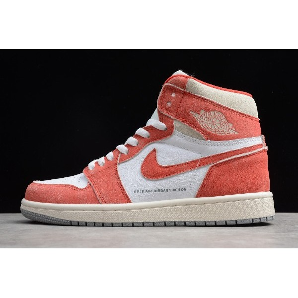 Men/Women Air Jordan 1 Retro High OG White Red