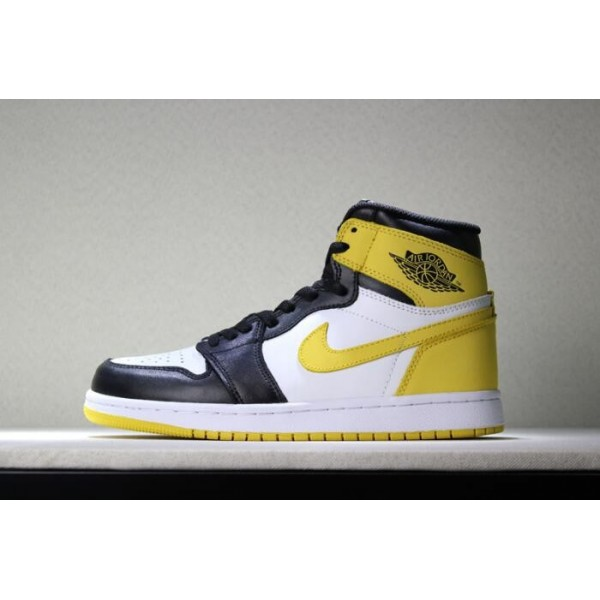 Men Air Jordan 1 Retro High OG Yellow Ochre Basketball Shoes