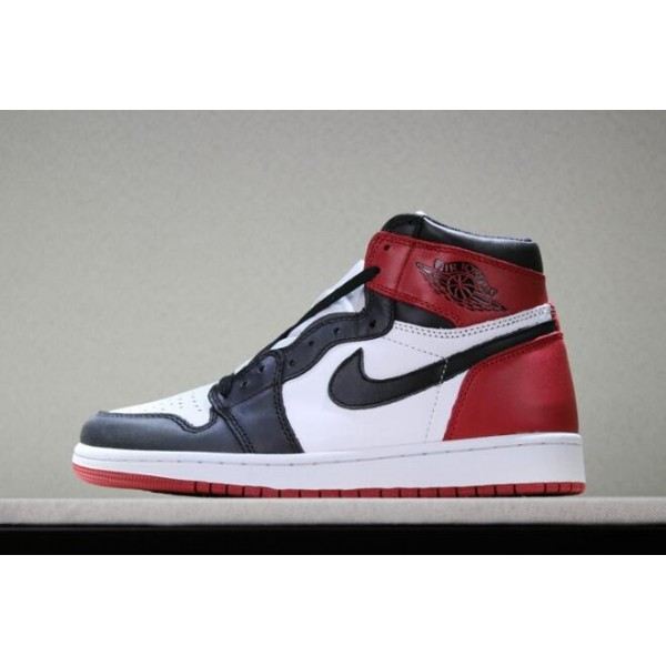 Men Air Jordan 1s Retro High OG Black Toe White Black-Varsity Red
