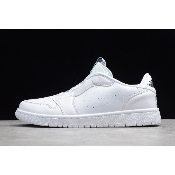 Men/Women Air Jordan 1 Low Slip White Shoes AV3918-100