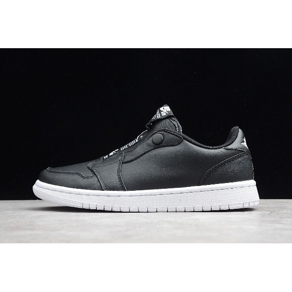Men/Women Air Jordan 1 Retro Low Slip Black White AV3918-001