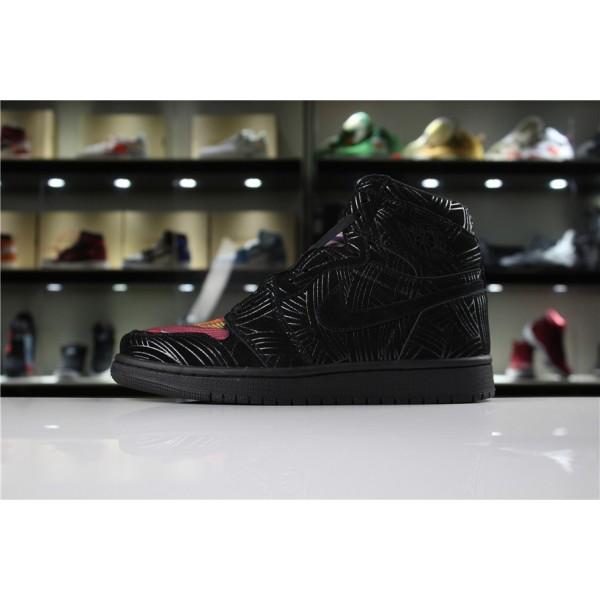 Men Air Jordan 1 LHM Pomb Los Primeros Black Multi-Color-Black