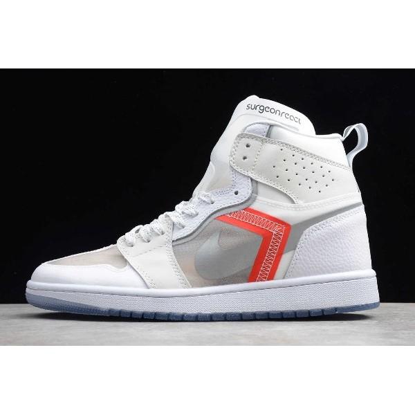 Men Custom Air Jordan 1 x Nike React Element 87 Sail Light Bone