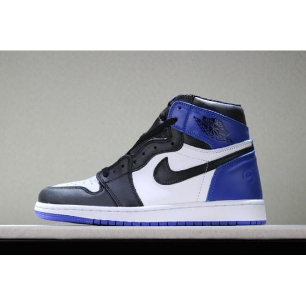 Men Fragment Design x Air Jordan 1 Retro High OG White Sport Royal-Black