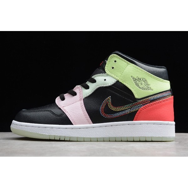 Women Air Jordan 1 Mid Glow in the Dark AV5174-076