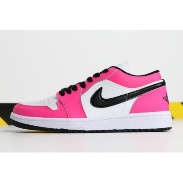 Women Grade School Air Jordan 1 Low Rush Pink