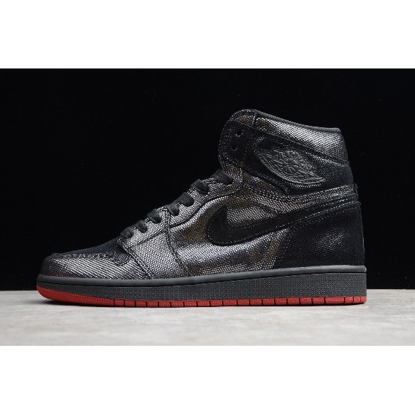 Men Air Jordan 1 Retro High SP Gina Black Red Releases