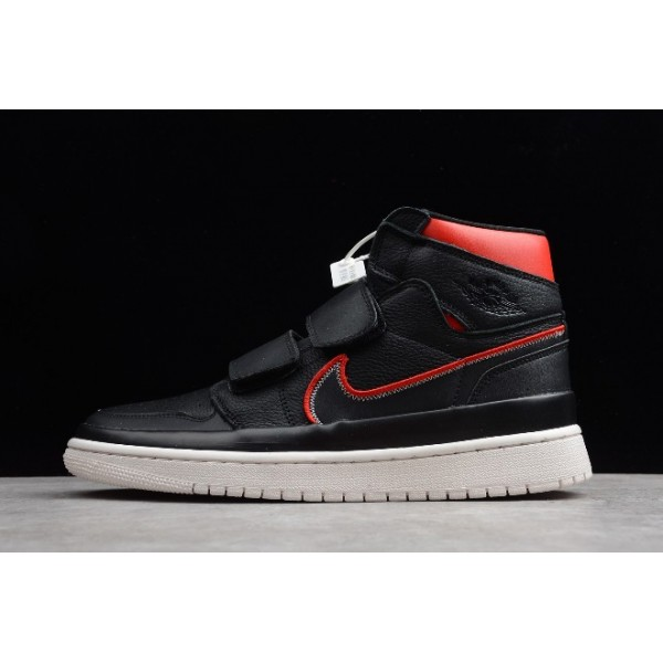 Men/Women Latest Air Jordan 1 Retro High Double Strap Black Red