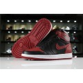 Men Air Jordan 1 High OG Banned Black Varsity Red-White
