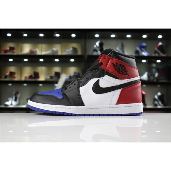 Men Air Jordan 1 Retro High OG Top 3 Black Varsity Red-Varsity Royal
