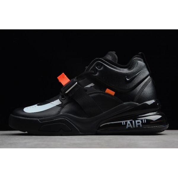Men Off-White x Air Jordan 1 x Nike Air Force 270 Black White