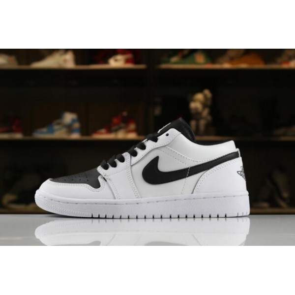 Men/Women Air Jordan 1 Low White Black 553560-103