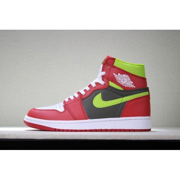 Men/Women Air Jordan 1 Retro High OG White Red Dark Green